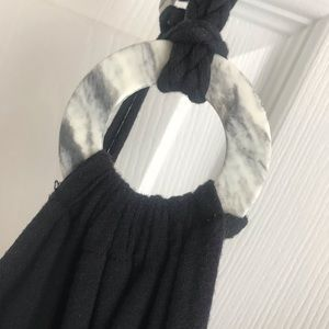 Ella Moss vintage Black Dress Rope straps & belt